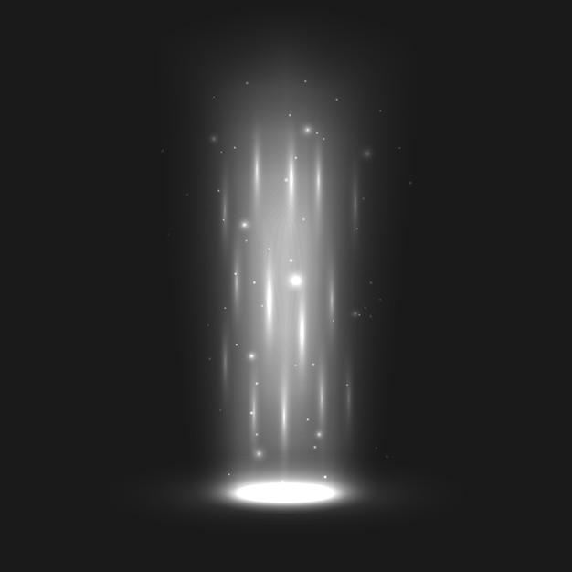 魔法の光の効果 Premiumベクター