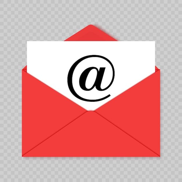 メールアイコン。ベクトルイラスト Premiumベクター