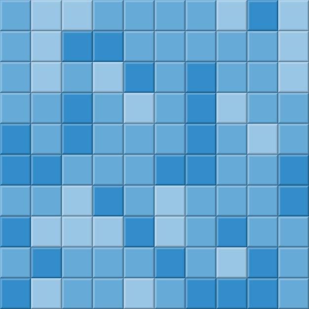 Ванная комната синий кафельный фон Premium векторы