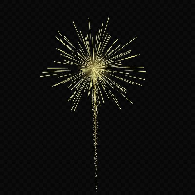 Волшебный световой эффект звезды всплески с блестками, изолированные на прозрачном фоне. легкий след Premium векторы