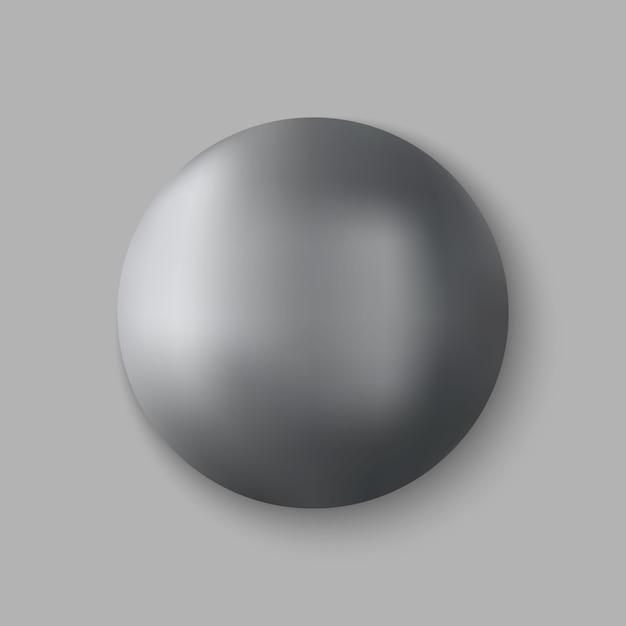 リアルな金属球 Premiumベクター