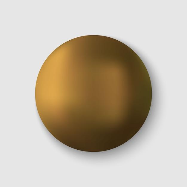 リアルな金の球 Premiumベクター