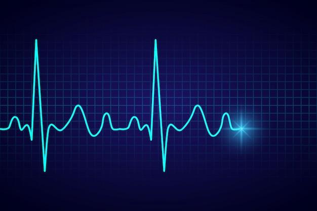 心電図の心臓パルスと医療医療の背景 Premiumベクター