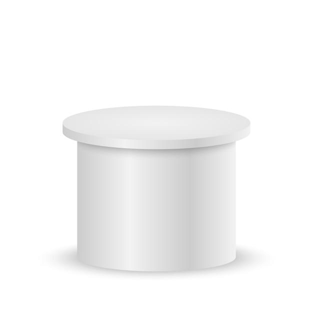白い空の台座または表彰台 Premiumベクター