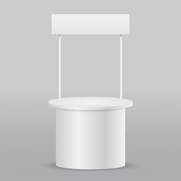空白のプロモーションカウンター小売貿易スタンド絶縁 Premiumベクター