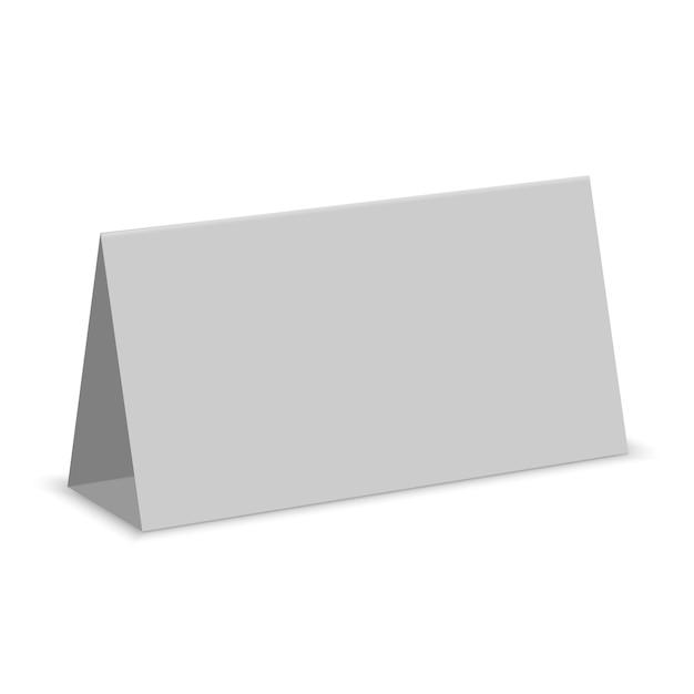空白の白いテーブル表示分離。紙のカレンダーカード Premiumベクター