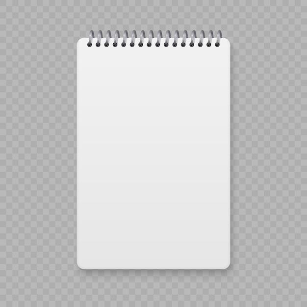 Реалистичная спираль макет ноутбука, шаблон обложки тетради. Premium векторы