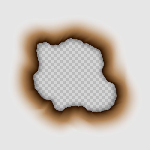 紙に焼けた穴。やけど Premiumベクター