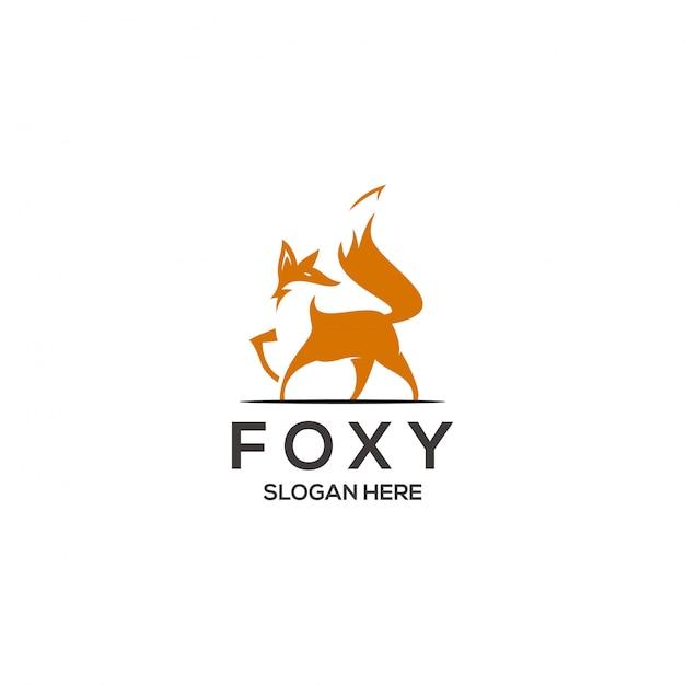 フォックスロゴコンセプト Premiumベクター
