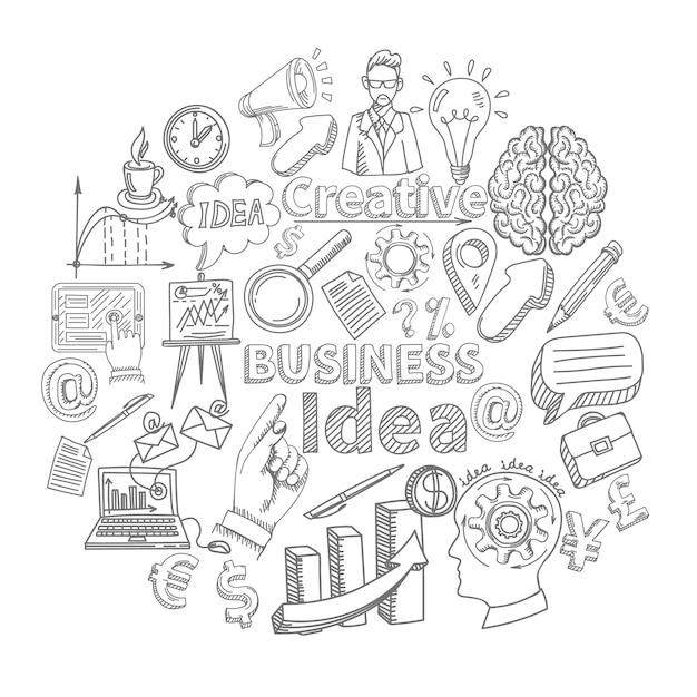 創造的なビジネスアイデアのコンセプト Premiumベクター