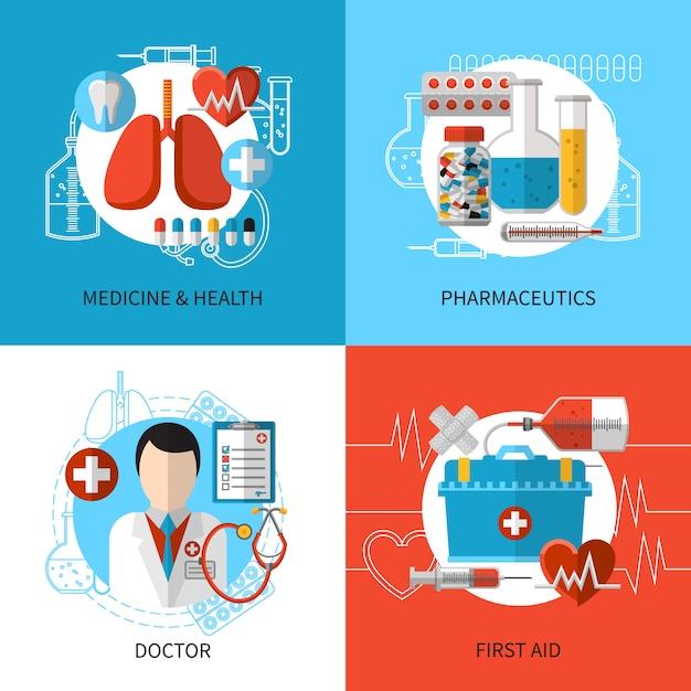 Концепция медицинского дизайна Бесплатные векторы