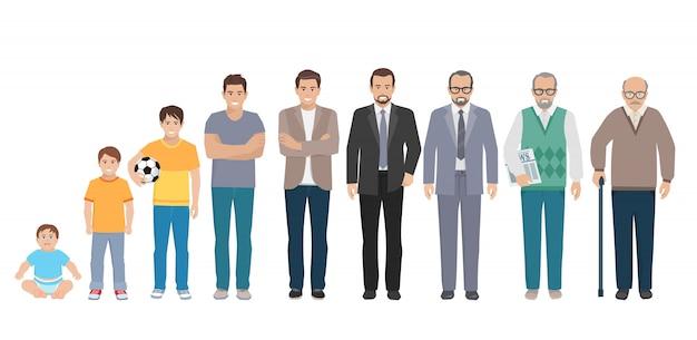 男性の家族キャラクターセット Premiumベクター