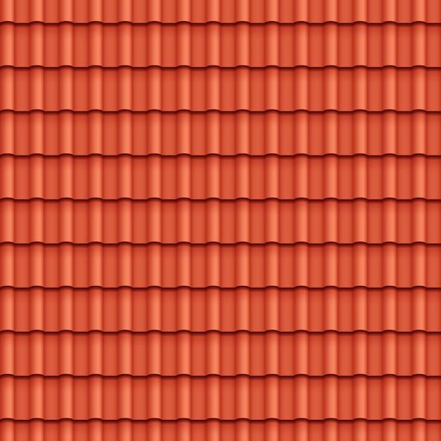 屋根瓦のシームレスパターン 無料ベクター