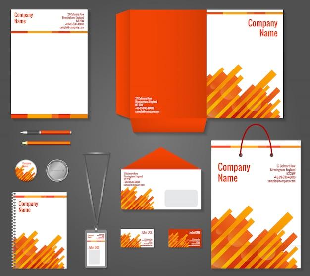 幾何学的技術ビジネス文房具の型板 無料ベクター