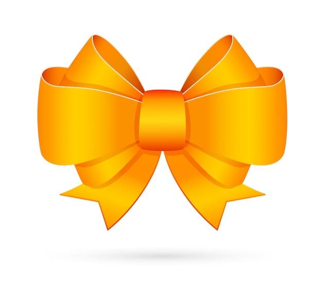 黄色の装飾的な弓エンブレム 無料ベクター