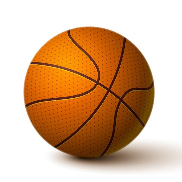 リアルなバスケットボールボールのアイコン 無料ベクター