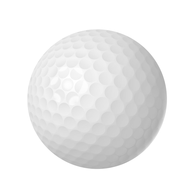 Мяч для гольфа на белом фоне Бесплатные векторы