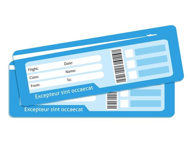 Пустые билеты на самолет Бесплатные векторы