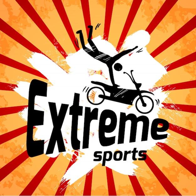 Экстремальный спорт постер Бесплатные векторы