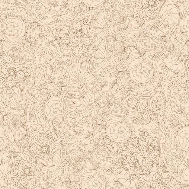 装飾的なシームレスパターン 無料ベクター