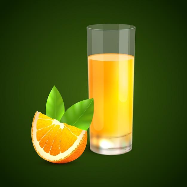 オレンジジュース 無料ベクター