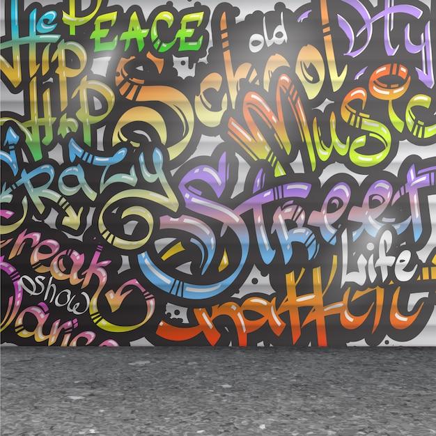 Граффити стены фон Бесплатные векторы