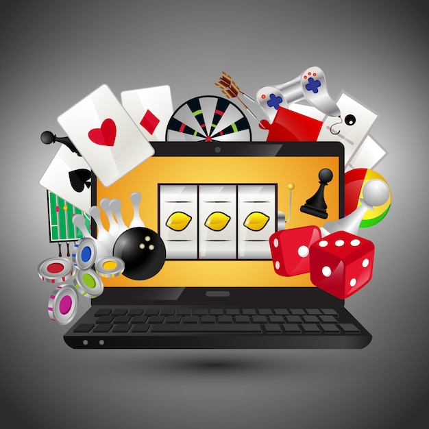 カジノゲームのコンセプト Premiumベクター