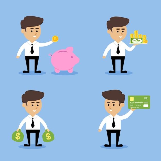 実業家金融の概念 無料ベクター