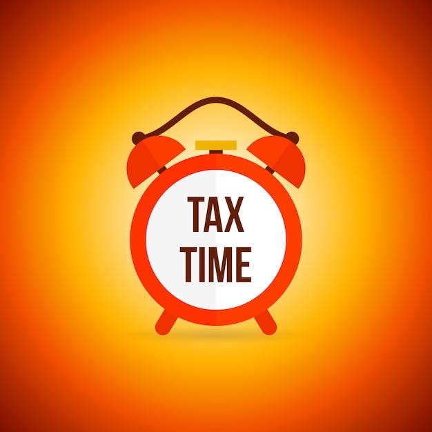 Налоговый будильник Бесплатные векторы