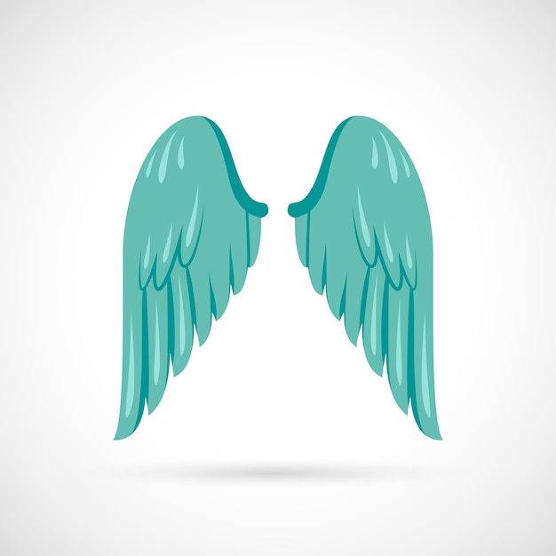 Иллюстрация крыла плоская Бесплатные векторы