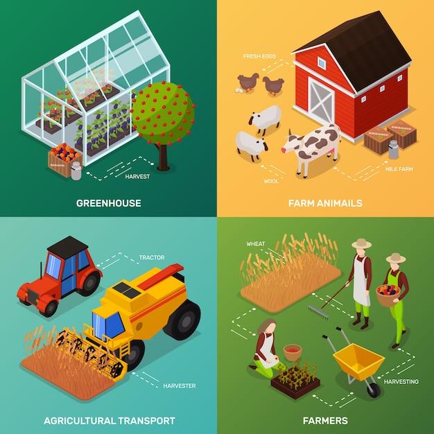 有機農法のコンセプト 無料ベクター