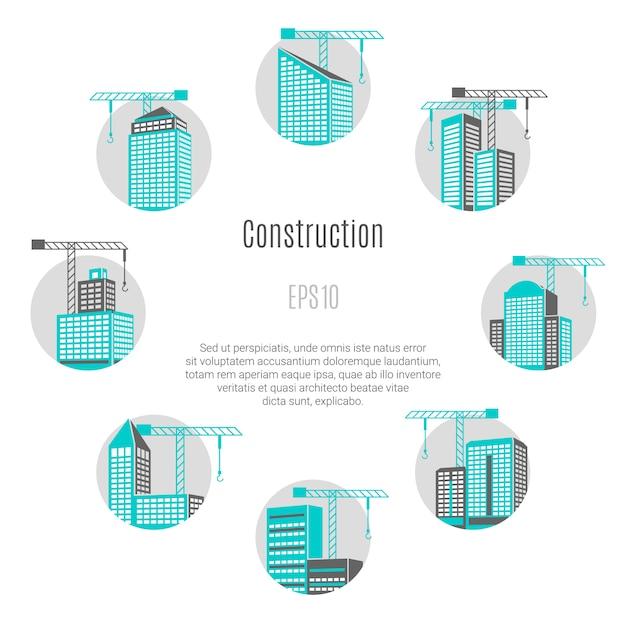 Иллюстрация концепции строительства Бесплатные векторы