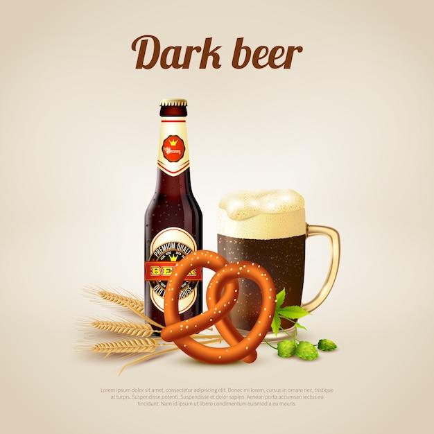 Темное пиво Бесплатные векторы