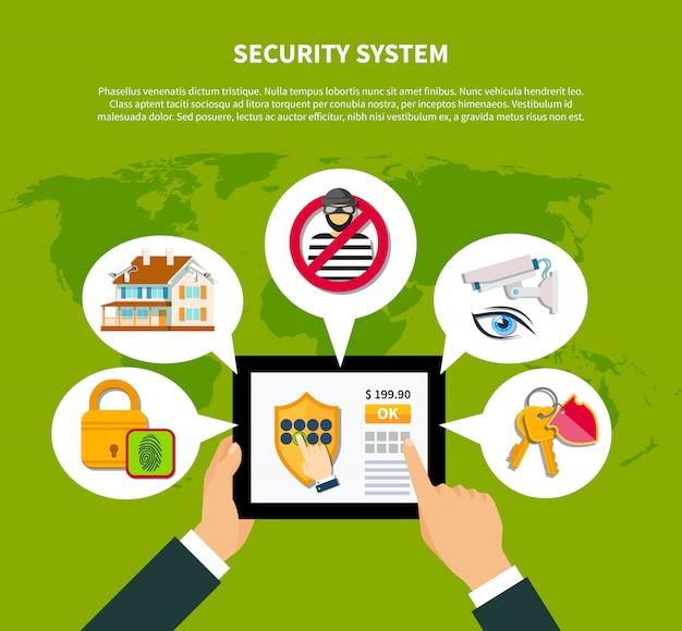 セキュリティの図 Premiumベクター