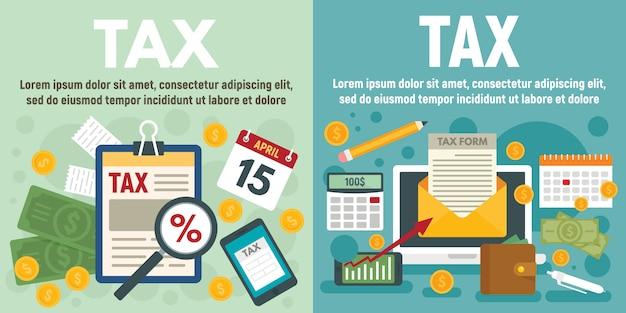 Набор налоговых баннеров Premium векторы