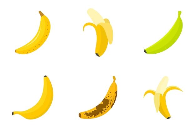 Банановые иконки Premium векторы