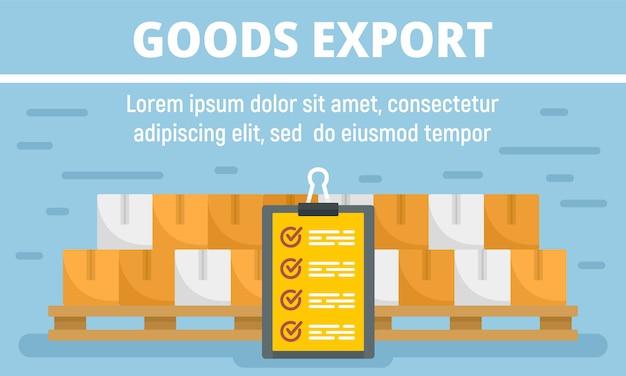Баннер концепции экспорта товаров Premium векторы