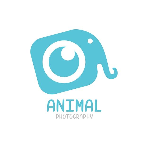 Слон логотип, шаблон логотипа фотографии животных изолированы Premium векторы