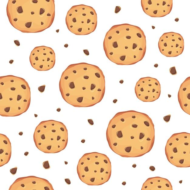 クッキーのパターンの背景 Premiumベクター