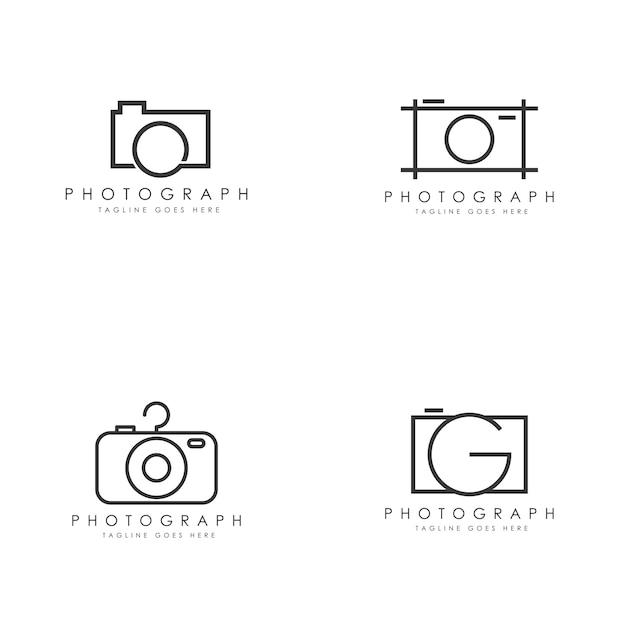 Логотип камеры Premium векторы