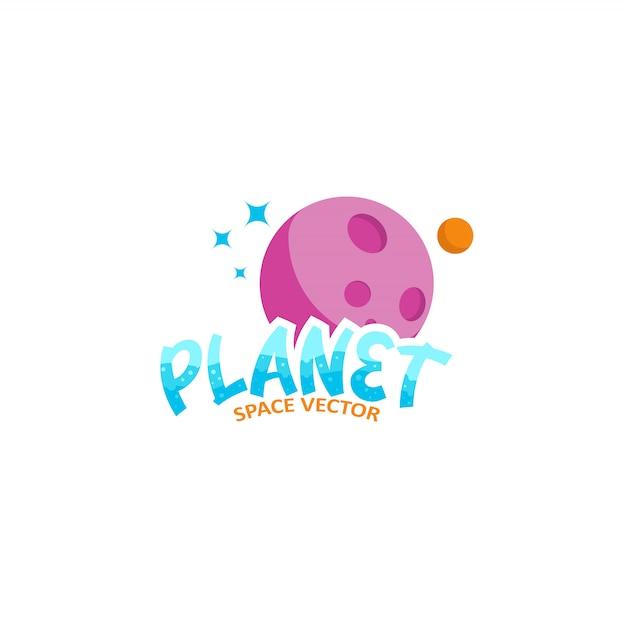 プラネットロゴ Premiumベクター
