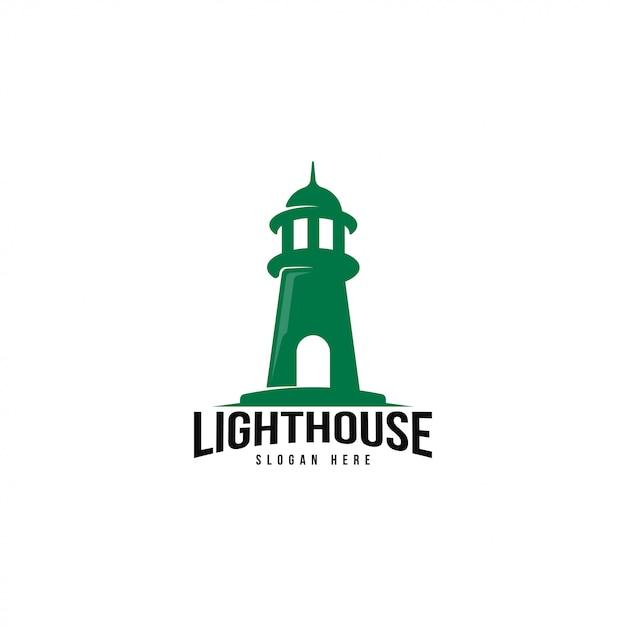 Шаблон логотипа маяк Premium векторы