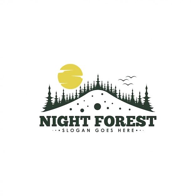 森のロゴ Premiumベクター