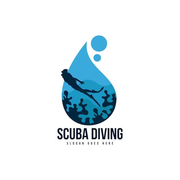 スキューバダイビングのロゴ Premiumベクター