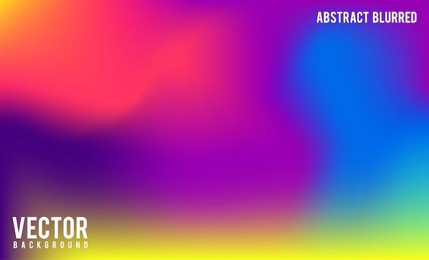 Абстрактный размытый фон градиентной сетки Premium векторы