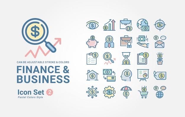 Коллекция иконок «финансы и бизнес» Premium векторы