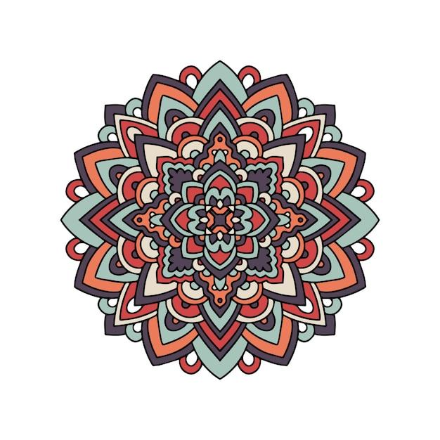 インドの敷物部族飾り曼荼羅パターン Premiumベクター