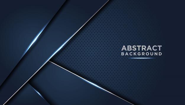 濃い青の重なり合ったレイヤーと暗いの抽象的な背景 Premiumベクター