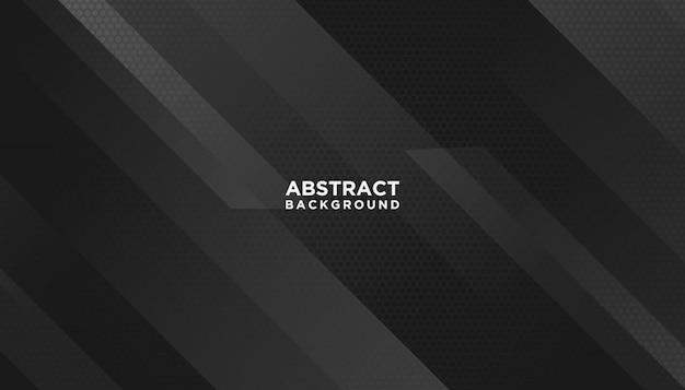 黒の抽象的な幾何学的な背景 Premiumベクター