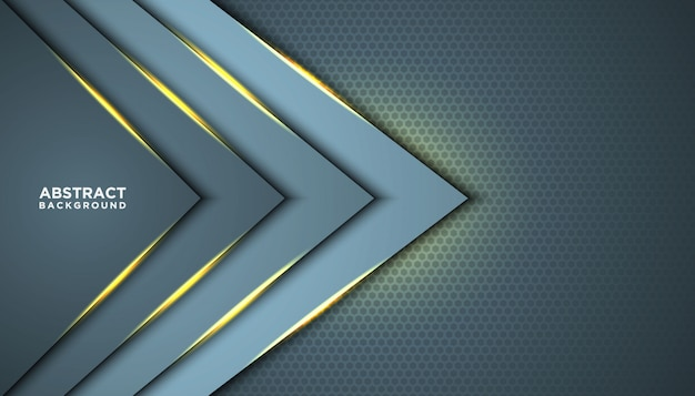 Темный абстрактный фон с перекрытием слоев. текстура с золотой эффект элемента украшения. концепция дизайна класса люкс. Premium векторы